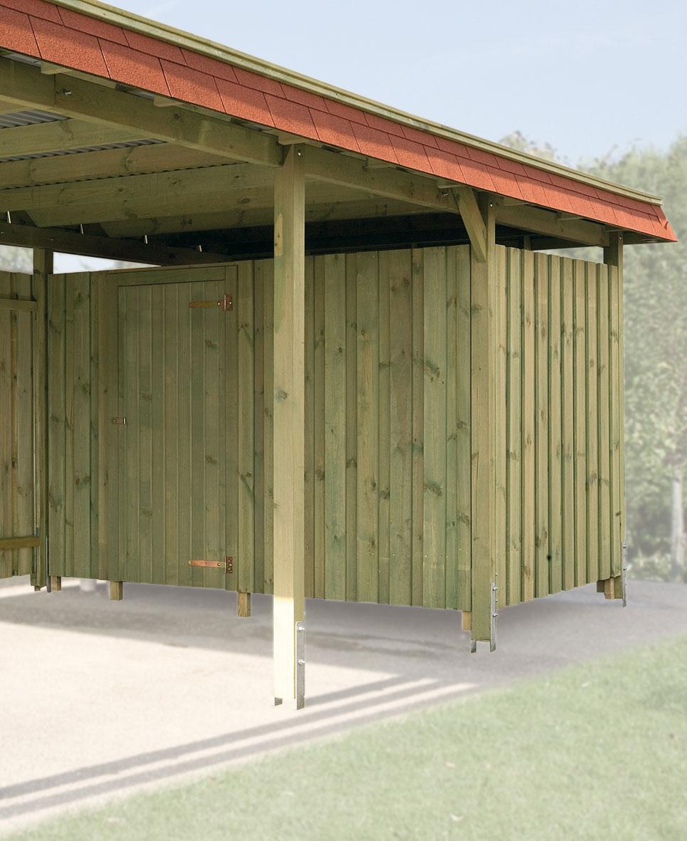 ger teraum fahrradgarage 20mm f r weka carport kdi. Black Bedroom Furniture Sets. Home Design Ideas