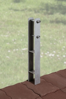 H-Anker-Set 3-teilig 9x9 Weka Terrassenüberdung / Anlehn-Carport Bild 1
