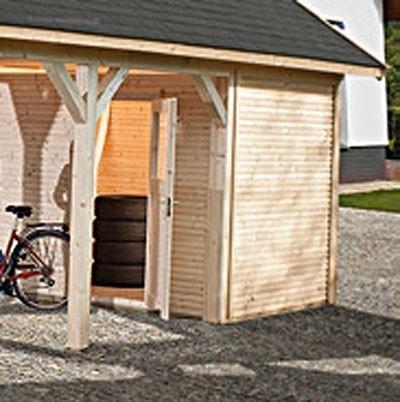 Lagerraum für Weka Carport Leimholz Flachdach / Satteldach Gr. 2 Bild 1
