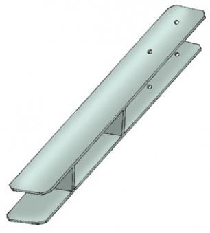 Pfostenanker / H-Pfostenanker Karibu 12x12cm Länge 60 cm Bild 1