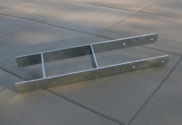Pfostenanker / H-Pfostenanker Karibu 9x9cm Länge 60cm Bild 2