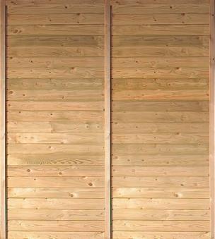 Seitenwand Karibu für Einzelcarport und Doppelcarport kdi 180x200cm Bild 1