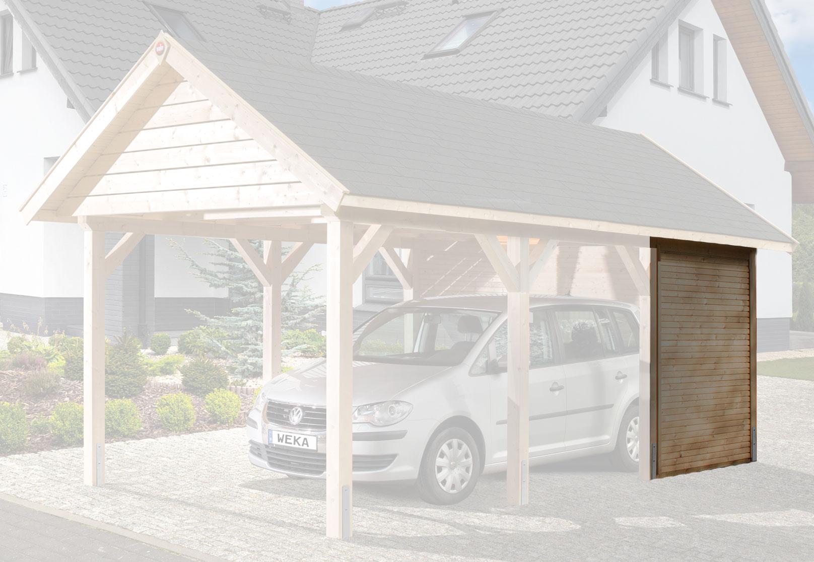 seitenwand weka carport leimholz flachdach satteldach. Black Bedroom Furniture Sets. Home Design Ideas