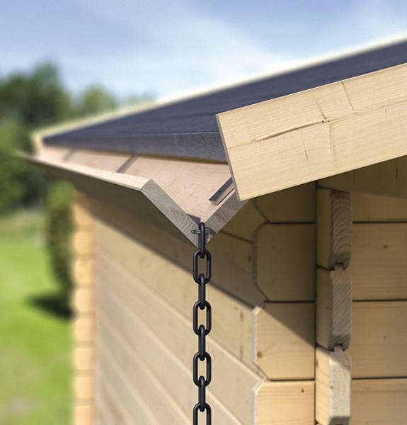Dachrinne Für Zelt : Dachrinne holzdachrinnenset m für karibu satteldächer