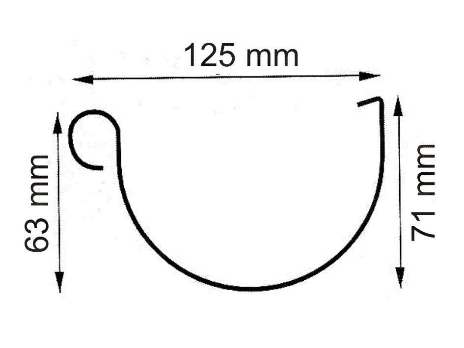 Dachrinne Set RG100 341Ax Spitzdach bis 3,5m Metall Halter rund anthr. Bild 2