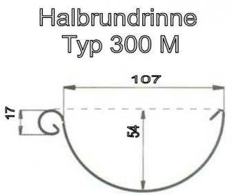 Dachrinnen Set Metall RG100 306MA Pultdach 6m Rinneneisen Metall grau Bild 2