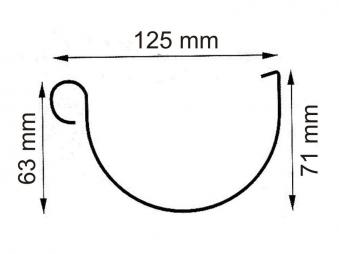 Dachrinnen Set RG100 342B Spitzdach 4m PVC Halter rund anthrazit Bild 2