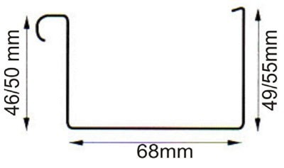 Dachrinnen Set RG70 201B Pultdach bis 3m PVC Halter Kasten braun Bild 2
