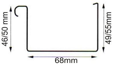Dachrinnen Set RG70 203A Pultdach bis 5,0m Metall Halter Kasten braun Bild 2