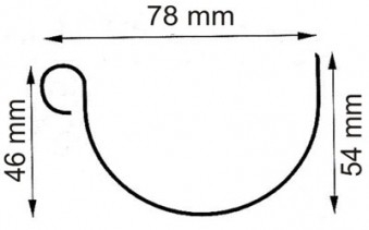 Dachrinnen Set RG80 482K 6-Eck Kota 2,5m Metall Halter rund weiß Bild 2