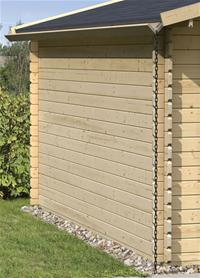 Holzdachrinne Verlängerung 2 m für Karibu Gartenhaus Satteldach kdi Bild 2