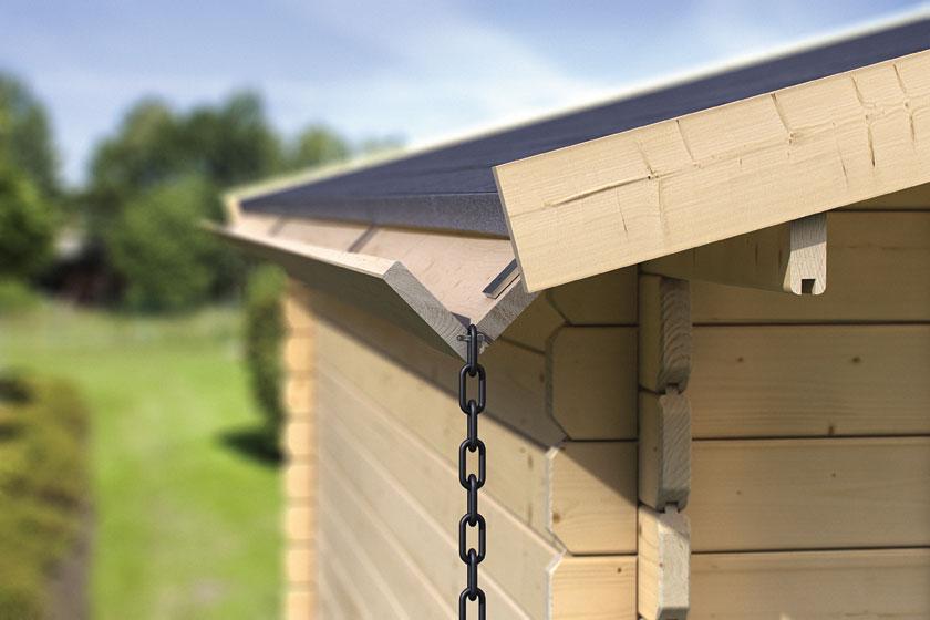 Karibu Dachrinne Set 3 für Flachdachhäuser Holz 3 m Bild 1