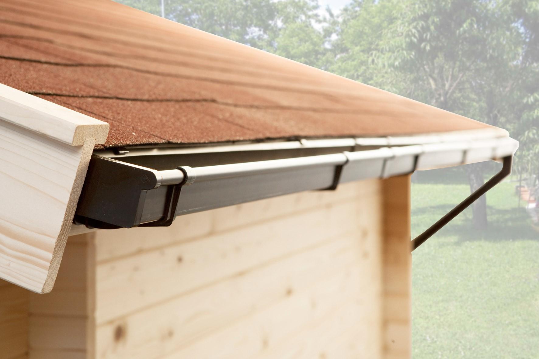 weka dachrinne / kastenrinnen-set gr.2 für satteldächer bis 600 cm