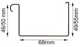 Dachrinne Kastenrinne TYP200 RG70 PVC braun 200cm Bild 2