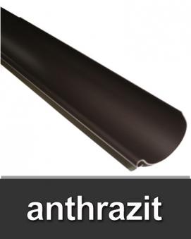 Dachrinne halbrund TYP250 RG80 PVC anthrazit 100cm Bild 1