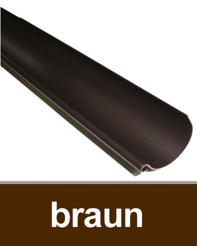 Dachrinne halbrund TYP250 RG80 PVC braun 100cm Bild 1