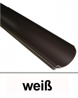Dachrinne halbrund TYP250 RG80 PVC weiß 100cm Bild 1