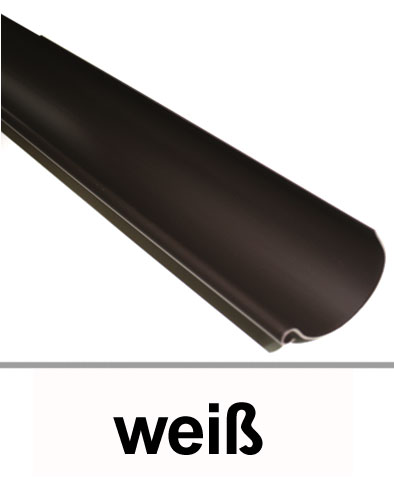 Dachrinne halbrund TYP250 RG80 PVC weiß 150cm Bild 1