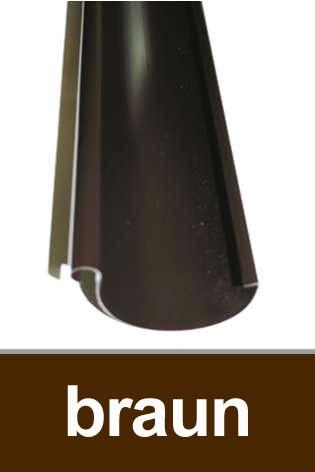 Dachrinne halbrund TYP300 RG100 PVC braun 100cm Bild 1