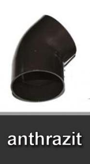 Dachrinnen Bogen 45° Ø60mm PVC anthrazit Bild 1