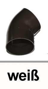 Dachrinnen Bogen 45° Ø60mm PVC weiß Bild 1