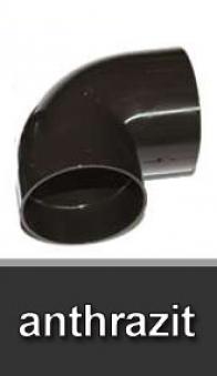 Dachrinnen Bogen 87° Ø60mm PVC anthrazit Bild 1