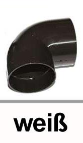 Dachrinnen Bogen 87° Ø60mm PVC weiß Bild 1
