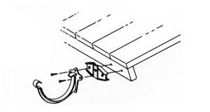 Dachrinnen Distanzkeil TYP200 RG70 TYP250 RG80 PVC braun Bild 2