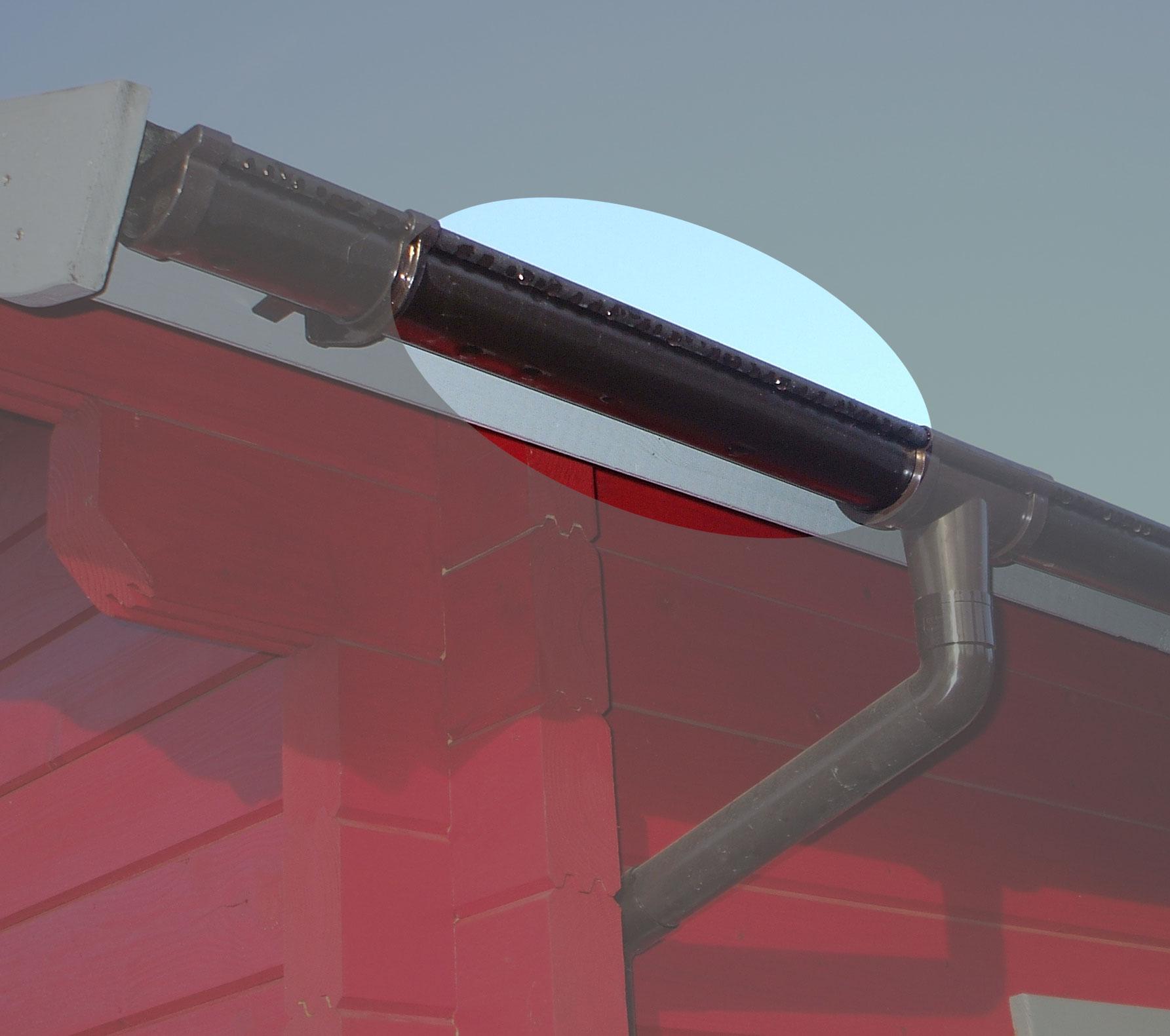 Dachrinnen Ergänzungsset K4A RG100 Anbauten bis 2m rund Metall braun Bild 1
