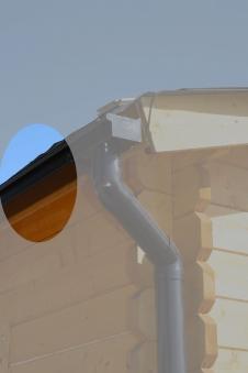 Dachrinnen Ergänzungsset K4B RG100 Anbauten bis 2m rund PVC braun Bild 1