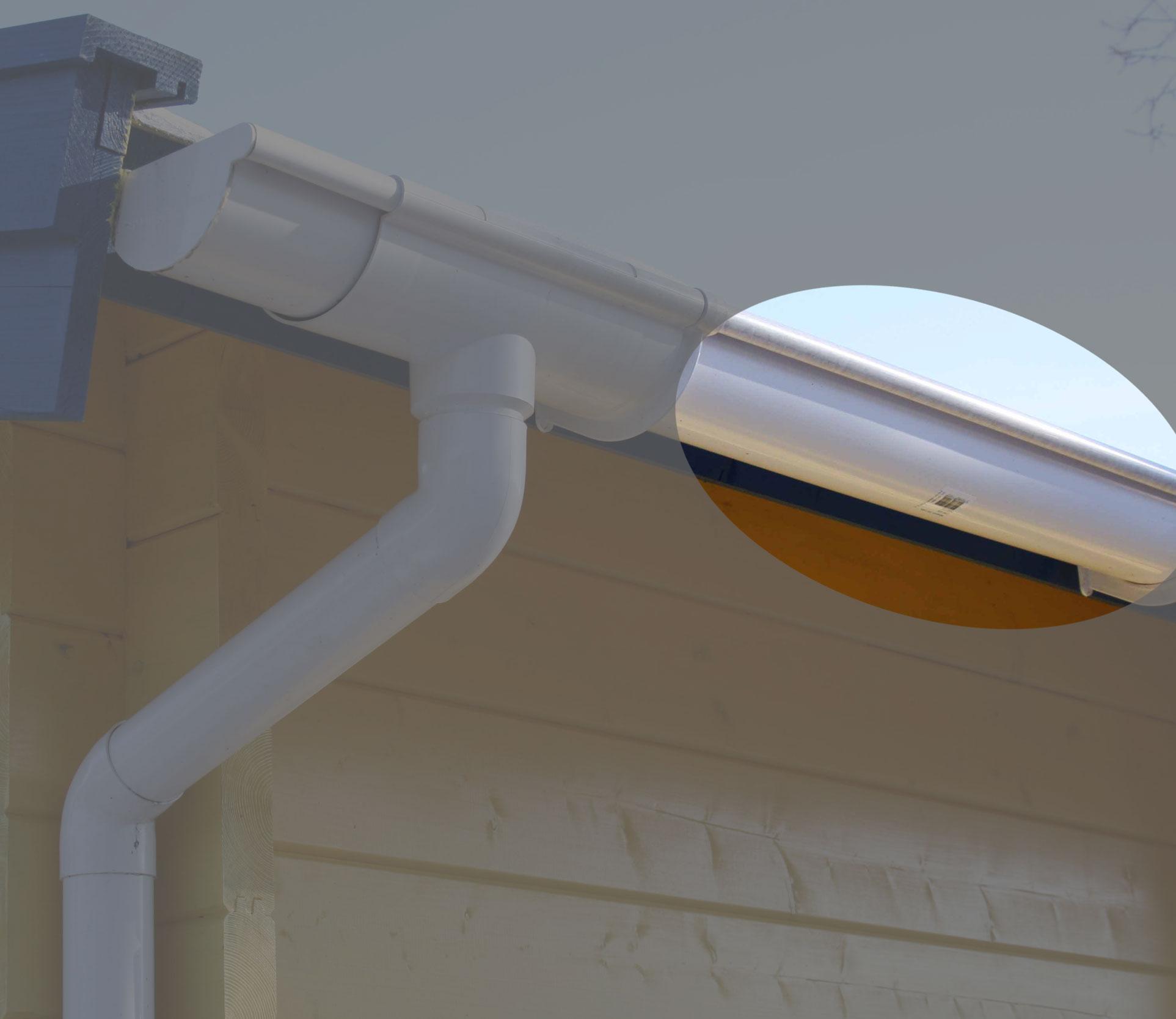 Dachrinnen Ergänzungsset K5B RG100 Anbauten bis 3m rund PVC weiß Bild 1