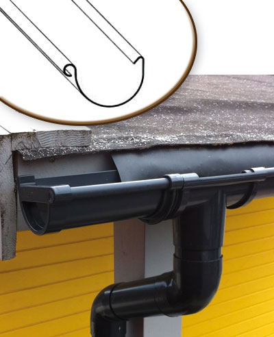 Dachrinnen Ergänzungsset RG100 310B Anbauten PVC rund anthrazit Bild 1