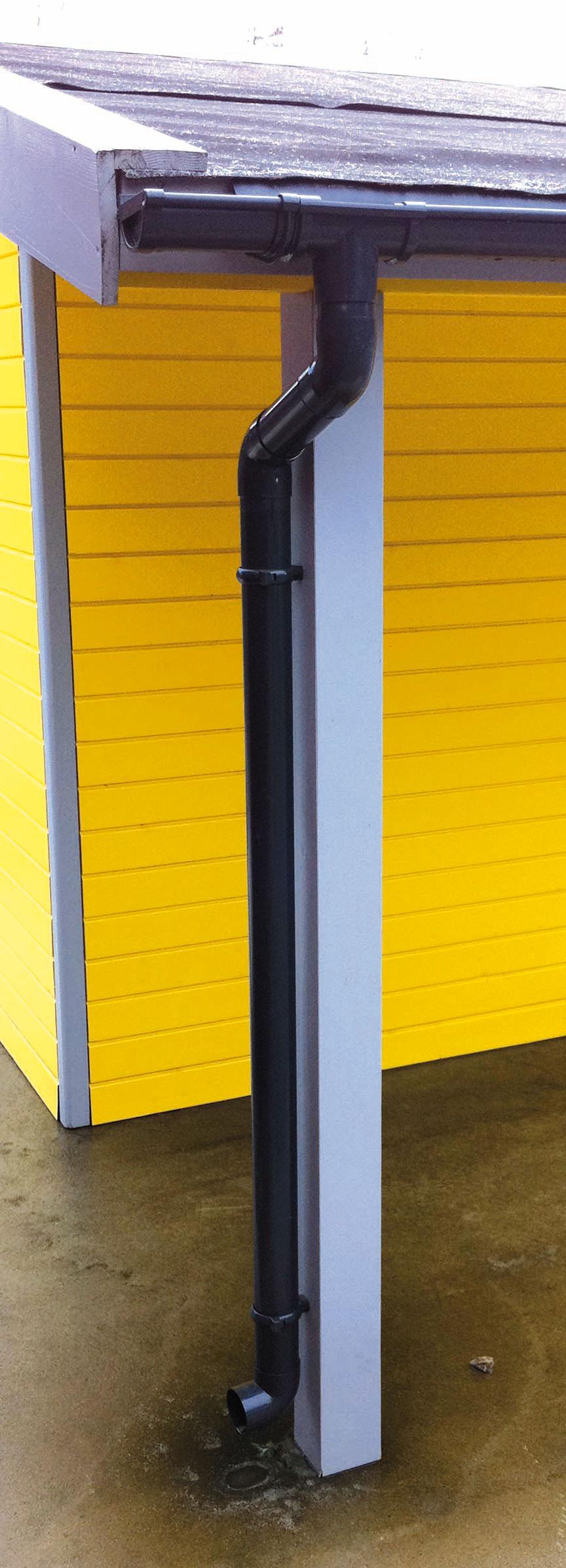 Dachrinnen Ergänzungsset RG80 410A Anbauten Metall Halter rund braun Bild 1