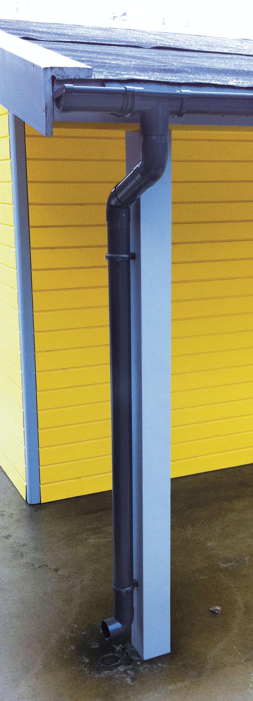 Dachrinnen Ergänzungsset RG80 410B Anbauten PVC Halter rund anthrazit Bild 1