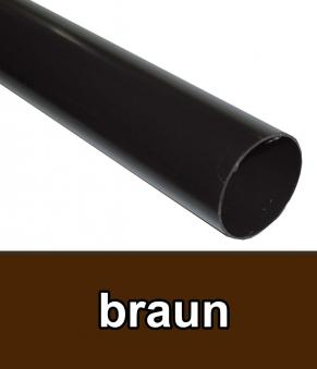 Dachrinnen Fallrohr Ø60mm Länge 100cm PVC braun Bild 1