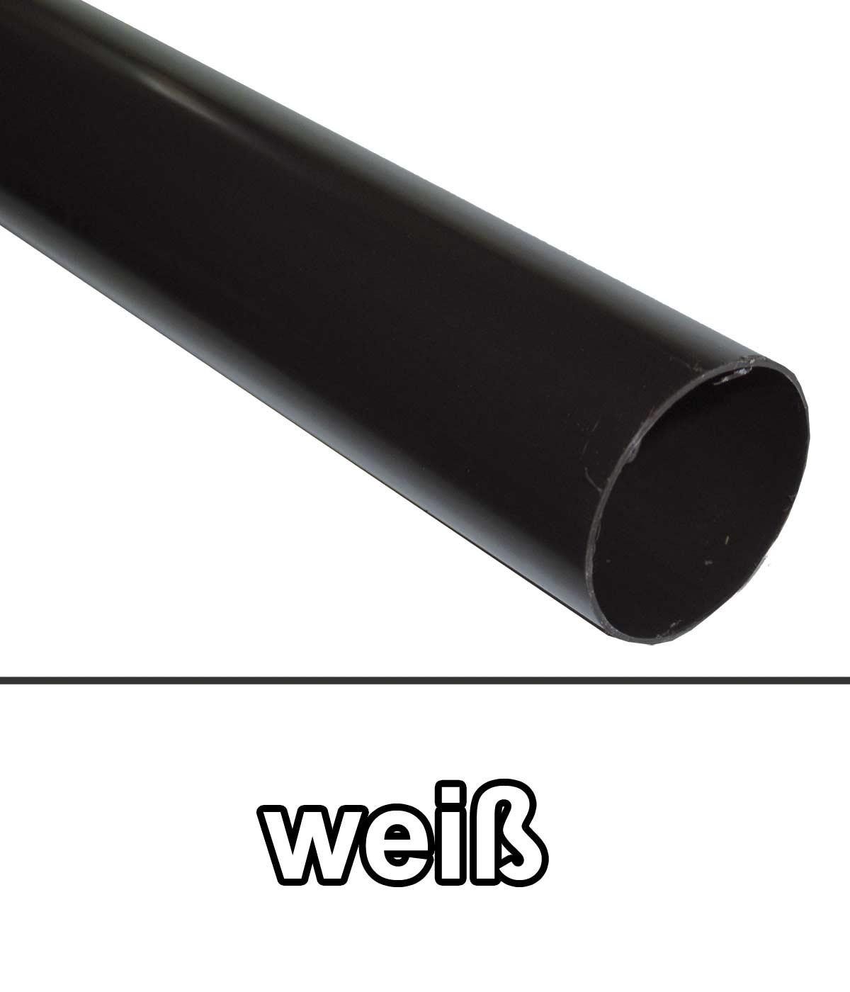 Dachrinnen Fallrohr Ø60mm Länge 100cm PVC weiß Bild 1