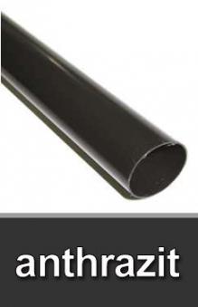 Dachrinnen Fallrohr Ø60mm Länge 200cm PVC anthrazit Bild 1