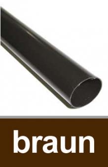 Dachrinnen Fallrohr Ø60mm Länge 200cm PVC braun Bild 1