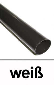 Dachrinnen Fallrohr Ø60mm Länge 200cm PVC weiß Bild 1
