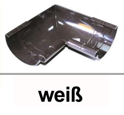 Dachrinnen Innenwinkel 90° TYP300 RG100 PVC weiß Bild 1