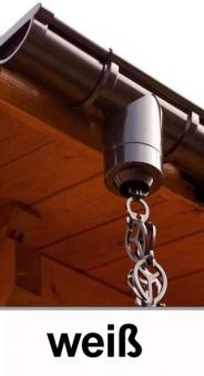 Dachrinnen Regenablaufkette 250cm Ø60mm oder Ø75mm weiß Bild 1