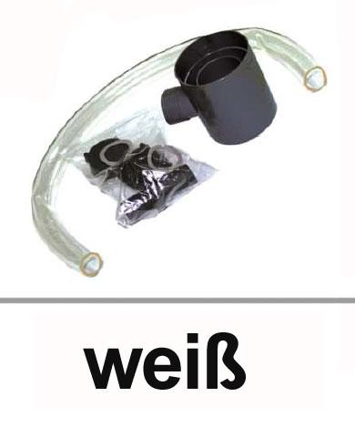 Dachrinnen Regensammler mit Überlaufstopp Ø60mm PVC weiß Bild 1