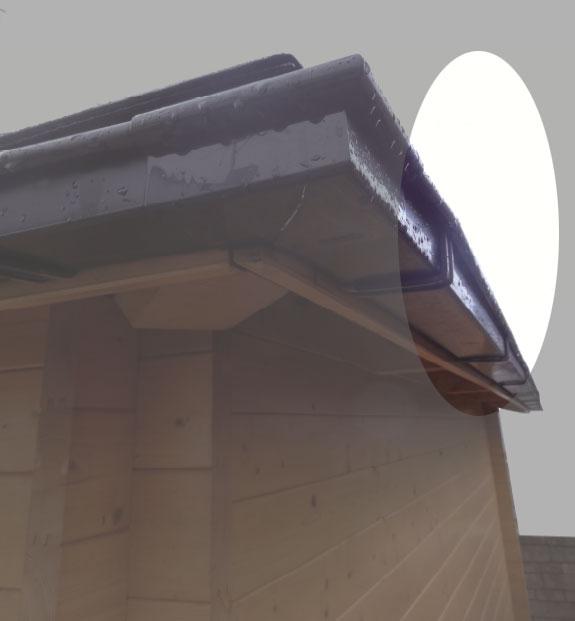 Dachrinnen Verlängerung RG70 K0A 2m Metall Halter Kasten braun Bild 1