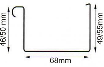 Dachrinnen Verlängerung RG70 K0A 2m Metall Halter Kasten braun Bild 2