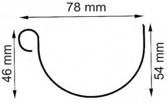Dachrinnen Verlängerung RG80 K2A 3m Metall Halter rund braun Bild 2