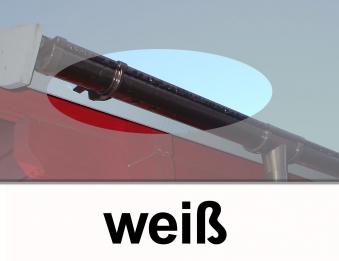 Dachrinnen Verlängerung RG80 K2B 3m PVC Halter rund weiß Bild 1