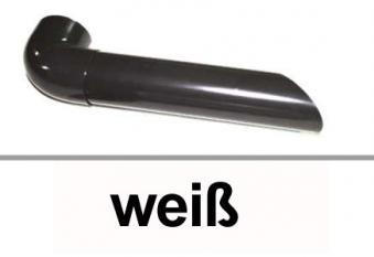 Dachrinnen Wasserspeier Ø60mm PVC weiß Bild 1