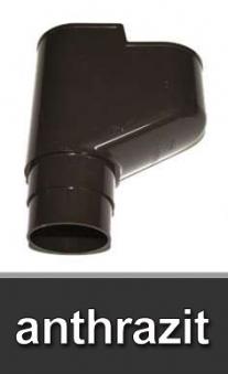 Dachrinnen X-Stück Universalabzweig 45-87° Ø60mm PVC anthrazit Bild 1
