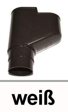 Dachrinnen X-Stück Universalabzweig 45-87° Ø60mm PVC weiß Bild 1
