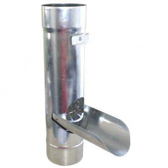 Regenwasserklappe mit Sieb Zink 80 mm Bild 1